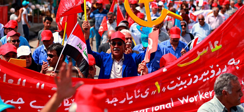 Stora demonstrationer i irak for val